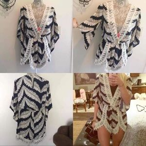 Lace trimmed Romper